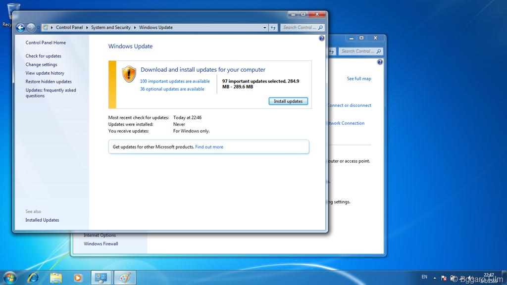แก้ปัญหา Windows 7 Update ไม่ได้!   The Bggaro